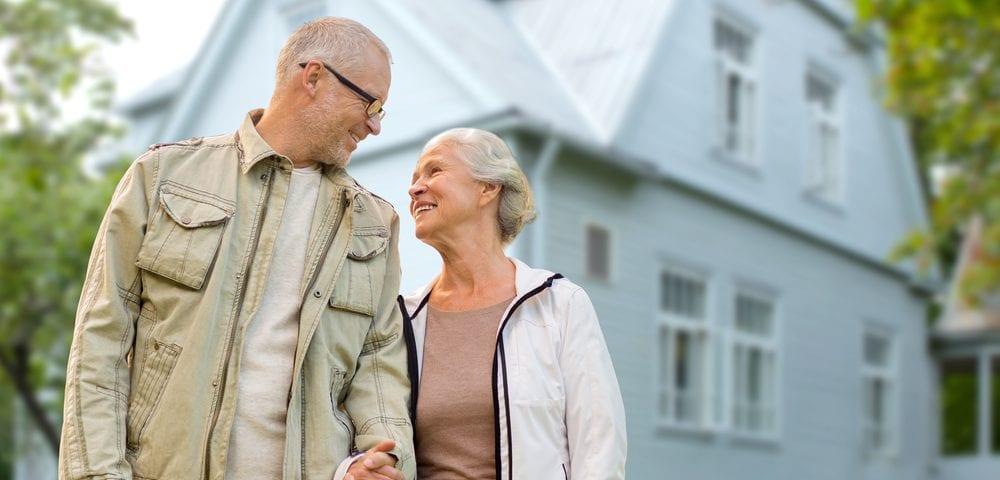 older couple and home - reverse mortgage candidate